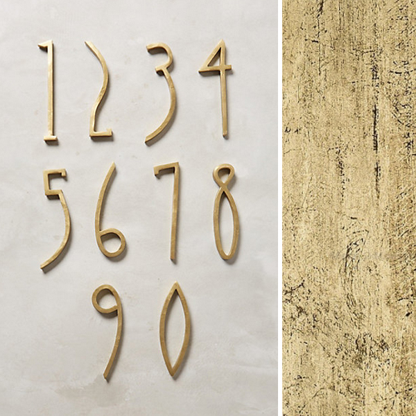 ebb + flow :: anthropologie house numbers