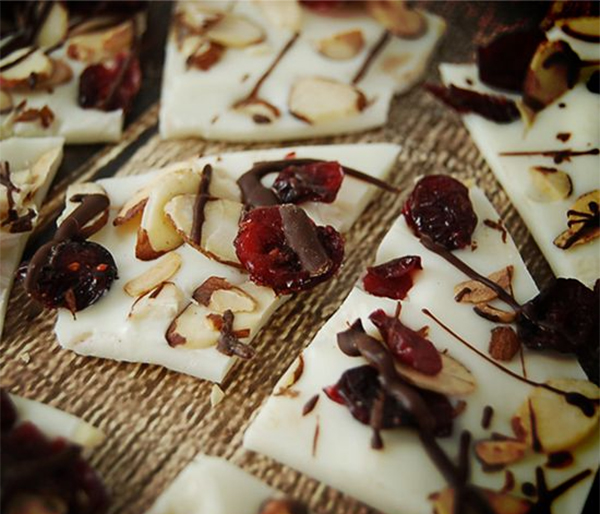 ebb + flow :: chicken scratch almond bark