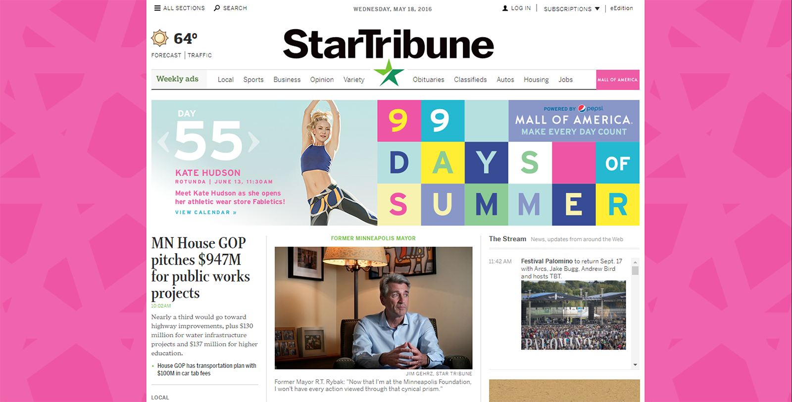 Star Tribune Website Takeover